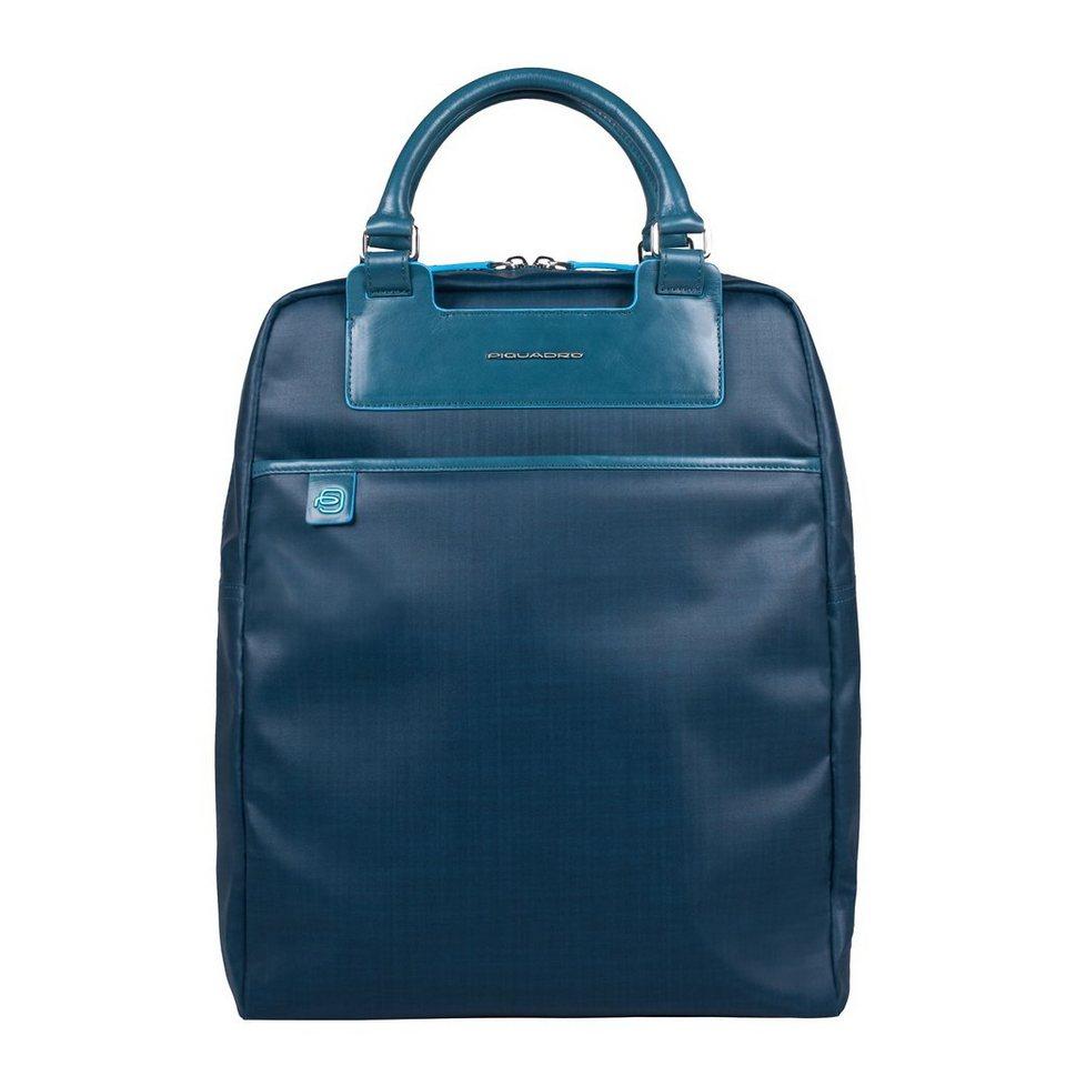 Piquadro Aki Rucksack 40 cm Laptopfach in blue