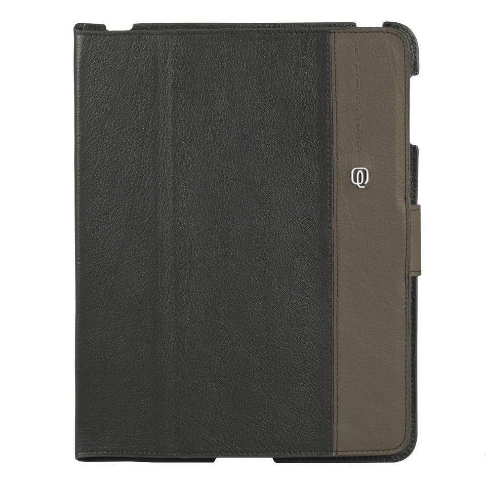 Piquadro Vibe iPad Hülle Leder 25,5 cm in grey taupe