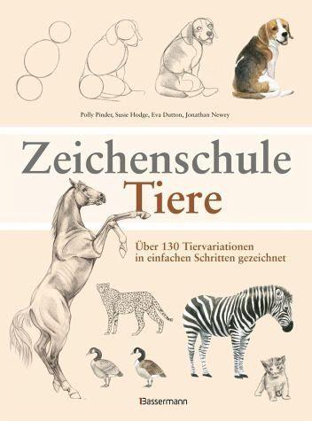 Broschiertes Buch »Zeichenschule Tiere«
