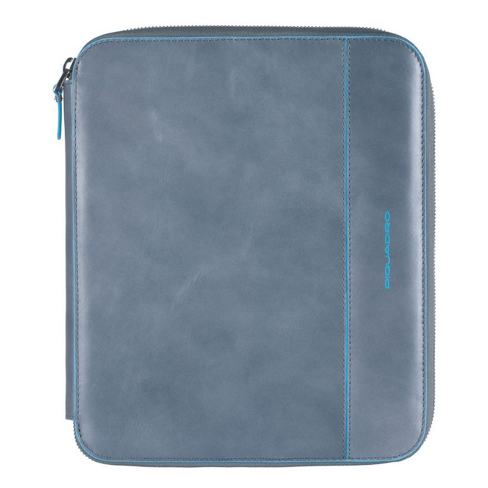 Piquadro Blue Square iPad Hülle Leder 25 cm in grey