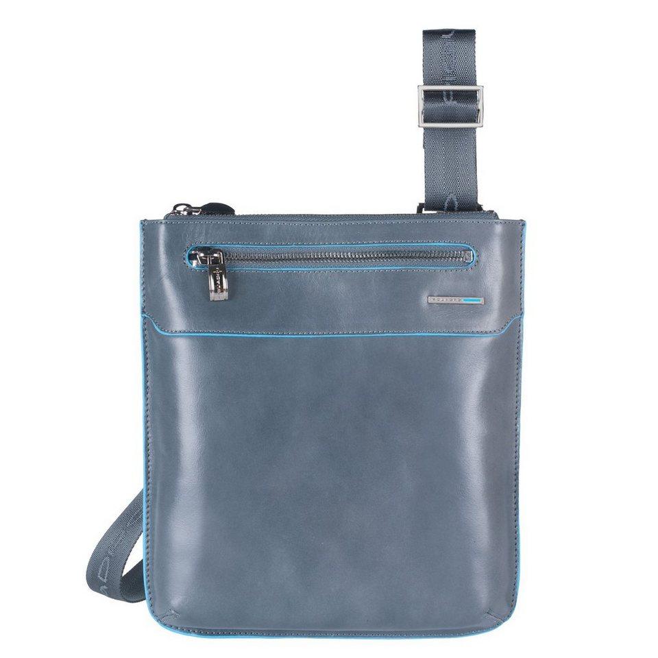 Piquadro Blue Square Umhängetasche Leder 22 cm in grey