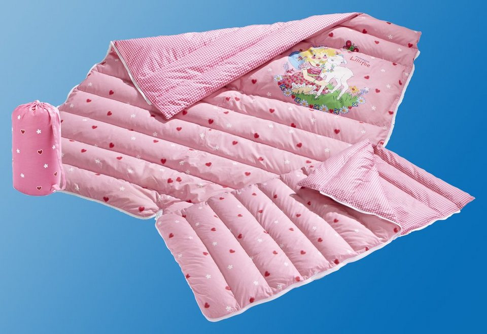daunenschlafsack daunenbettdecke f r kinder prinzessin lillifee otto keller 2 in 1. Black Bedroom Furniture Sets. Home Design Ideas