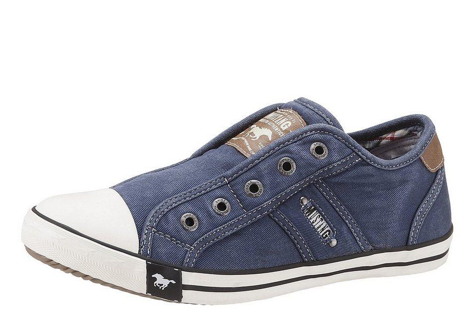 mustang shoes slip on sneaker in sommerlicher farbpalette online kaufen otto. Black Bedroom Furniture Sets. Home Design Ideas