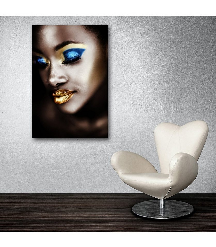 Premium Collection by Home affaire Acrylglasbild »Fashion-Face«, 60/90 cm in gold/blau/bronze