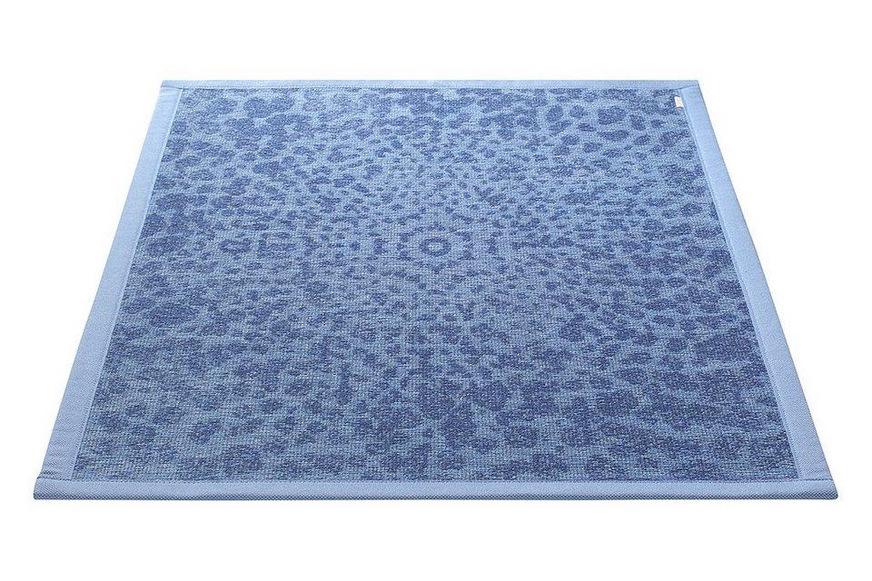 Badematte, Esprit, »Caldera«, Höhe 5 mm, beidseitig verwendbar in blau