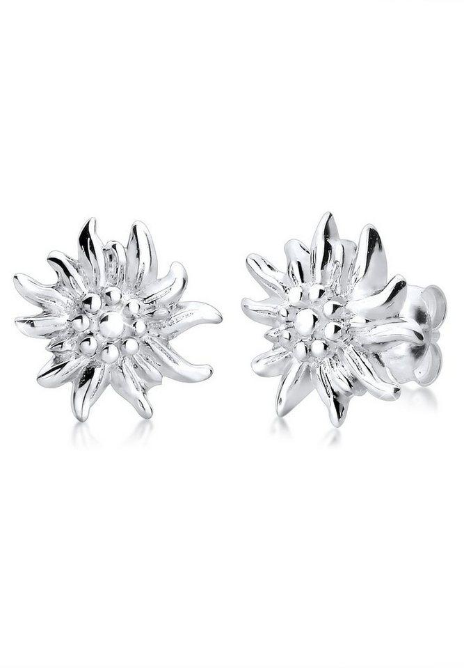 Elli Ohrringe »*WIESN SPECIAL* Edelweiss Filigran 925 Silber« in Silber
