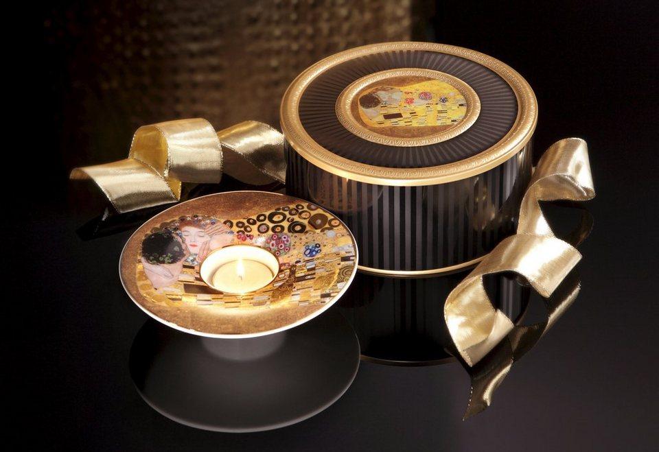 Goebel Teelichthalter, »Der Kuss« in goldfarben