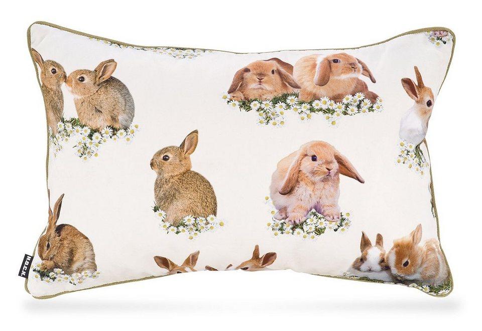 Wendekissen, Hock, »Bunny« in natur/gold