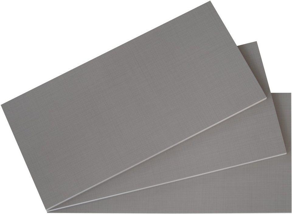 WIMEX Einlegeböden (2 Stck.) in Dekor Leinen grau