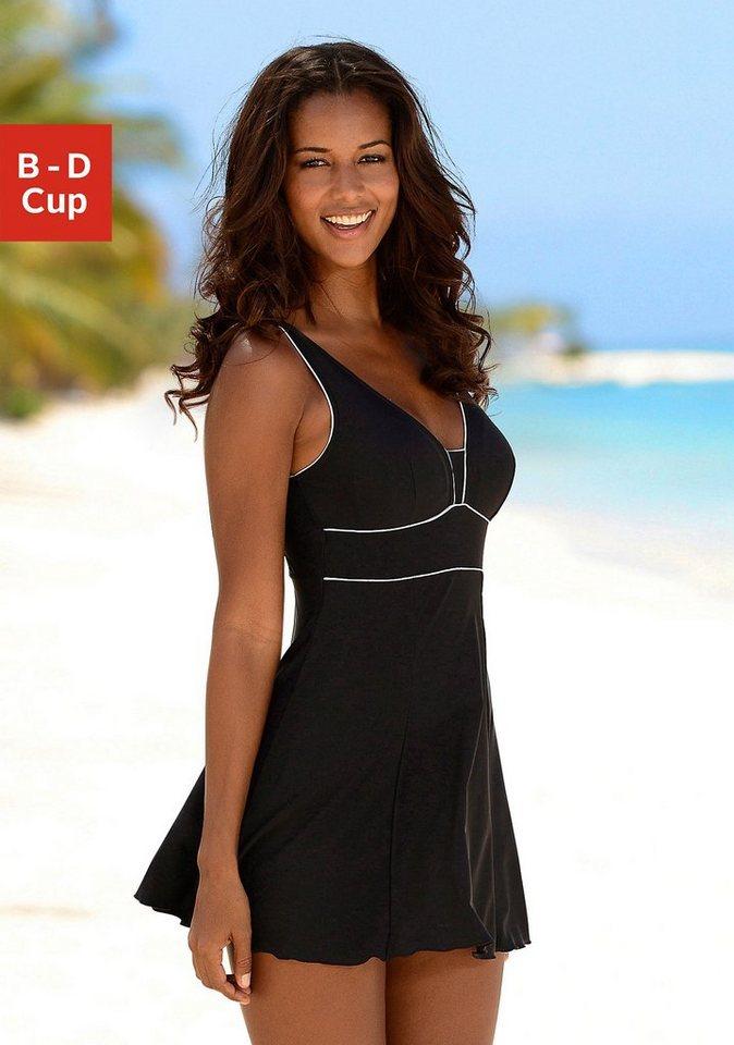 LASCANA Badeanzug-Kleid in schwarz