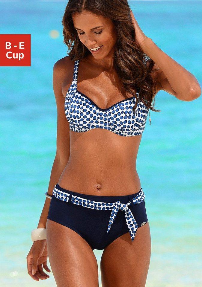 Bügel-Bikini, Sunflair in marine bedruckt