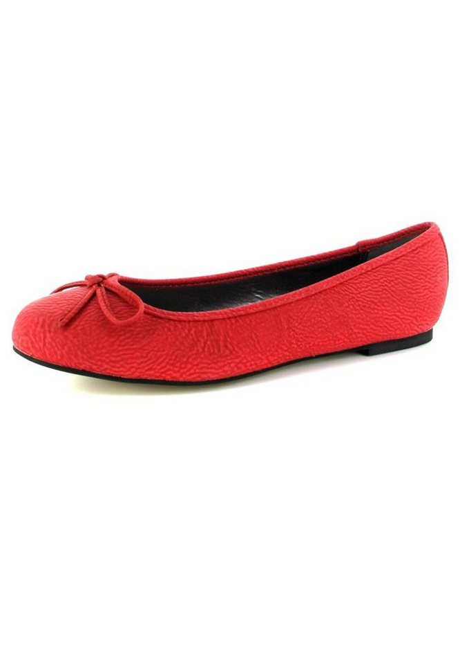 Andres Machado Ballerinas in Rot