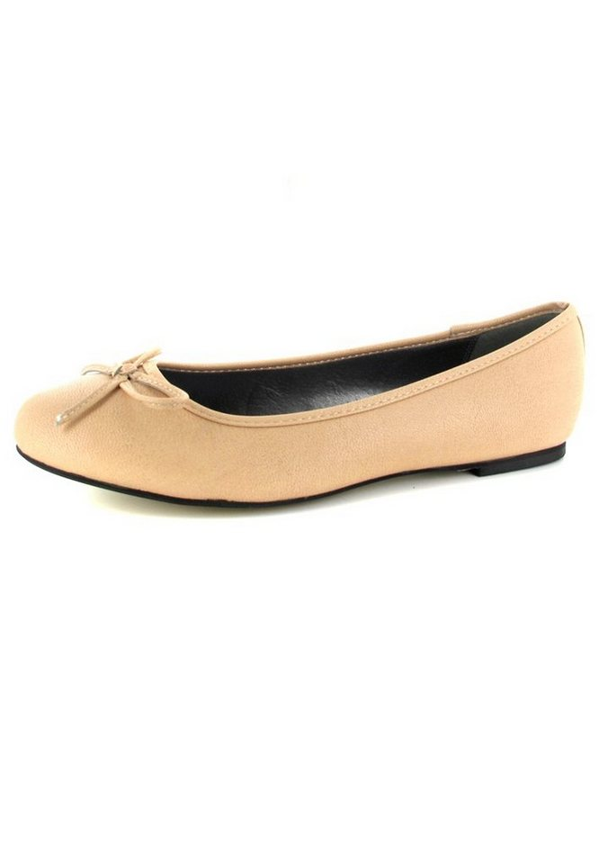 Andres Machado Ballerinas in Beige