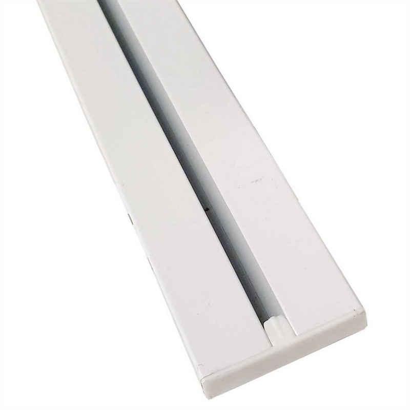 Gardinenschiene, Bestlivings, 1-läufig, Fixmaß, Flache Aluminium Schiene (7mm), alle Längen bis 480cm möglich, Länge: 120cm, Decken oder Wandmontage