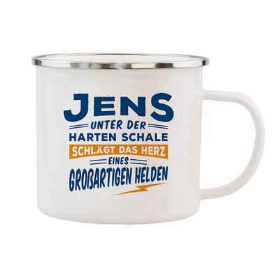 HTI-Living Becher »Echter Kerl Emaille Becher Jens«, Emaille