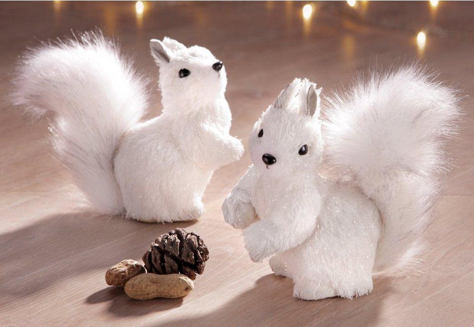 Set: Eichhörnchen (2tlg.) in weiß