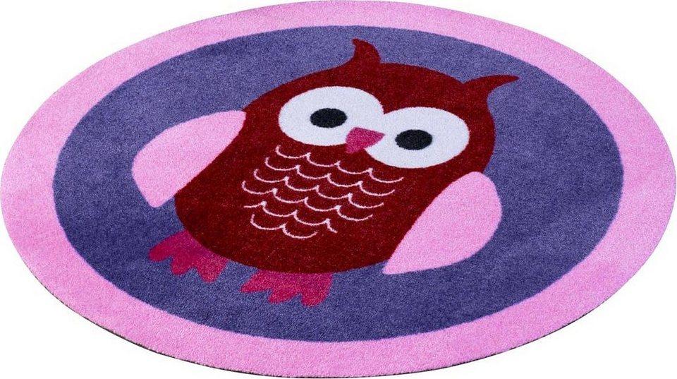 Kinderteppich eule rosa  Kinderteppich »Eulen«, Zala Living, rechteckig, Höhe 7 mm online ...
