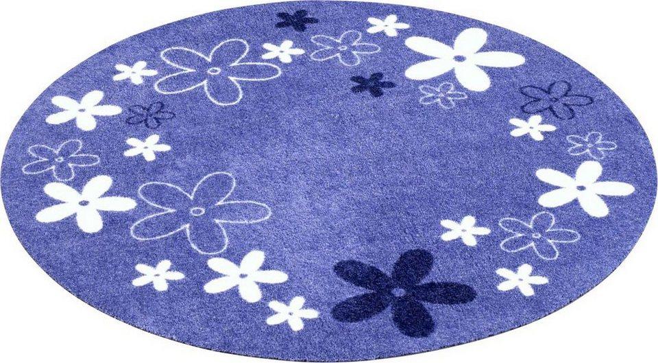 Kinderteppich blau rund  Kinder-Teppich, Zala Living, »Blumen« kaufen | OTTO