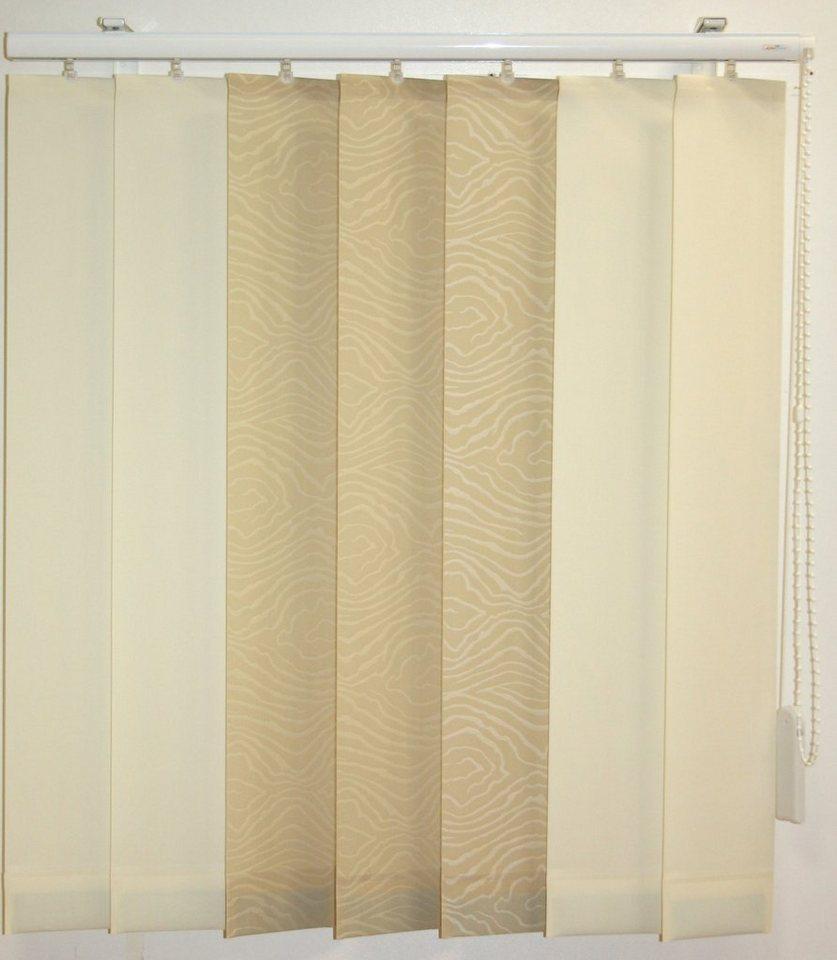 Vertikal-Lamellenvorhang, Sunlines, »Montrey«, Wunschmaß in creme