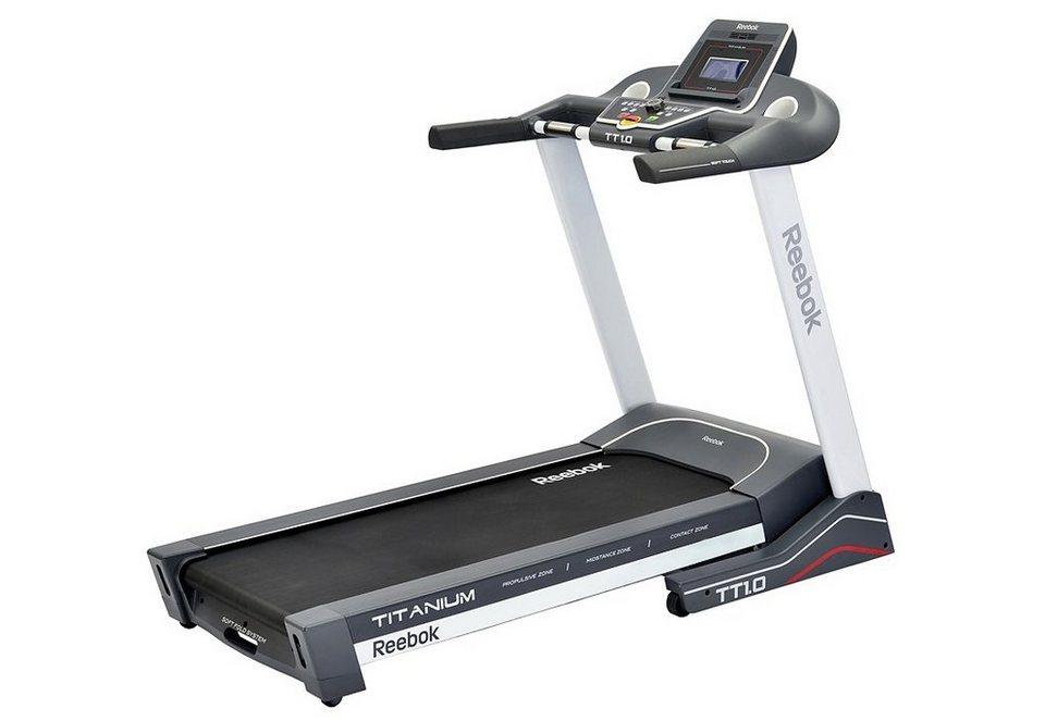 Laufband, »Titanium Treadmill TT1.0«, Reebok in grau-weiß