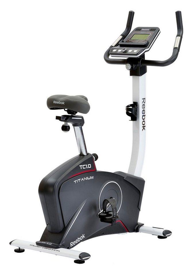 Ergometer, »Titanium Bike TC1.0«, Reebok in grau-weiß