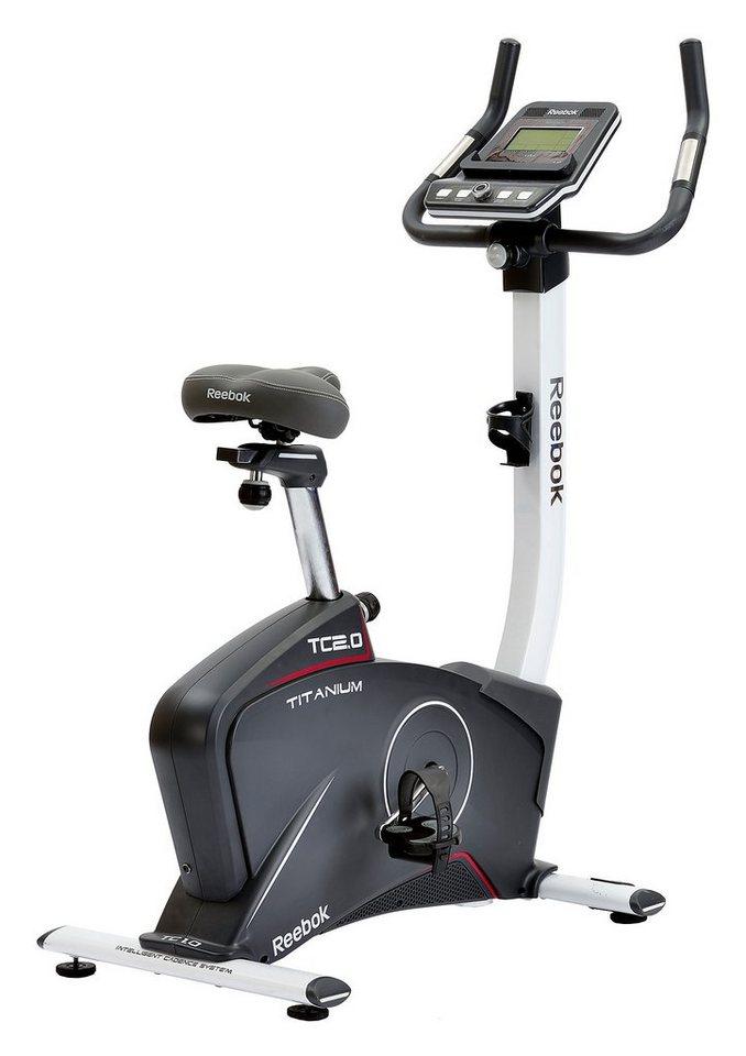 Ergometer, »Titanium Bike TC2.0«, Reebok in grau-weiß