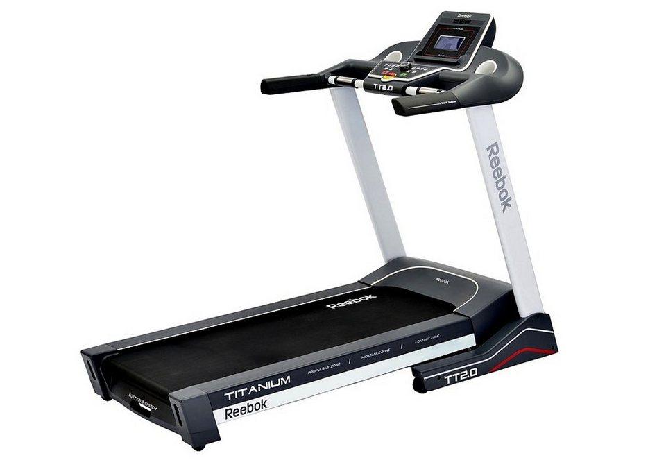 Laufband, »Titanium Treadmill TT2.0«, Reebok in grau-weiß