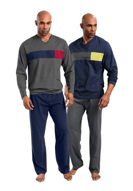 Le Jogger, Pyjamas (2 Stück), lang   Bekleidung > Wäsche > Nachtwäsche   Blau   Baumwolle   le jogger®