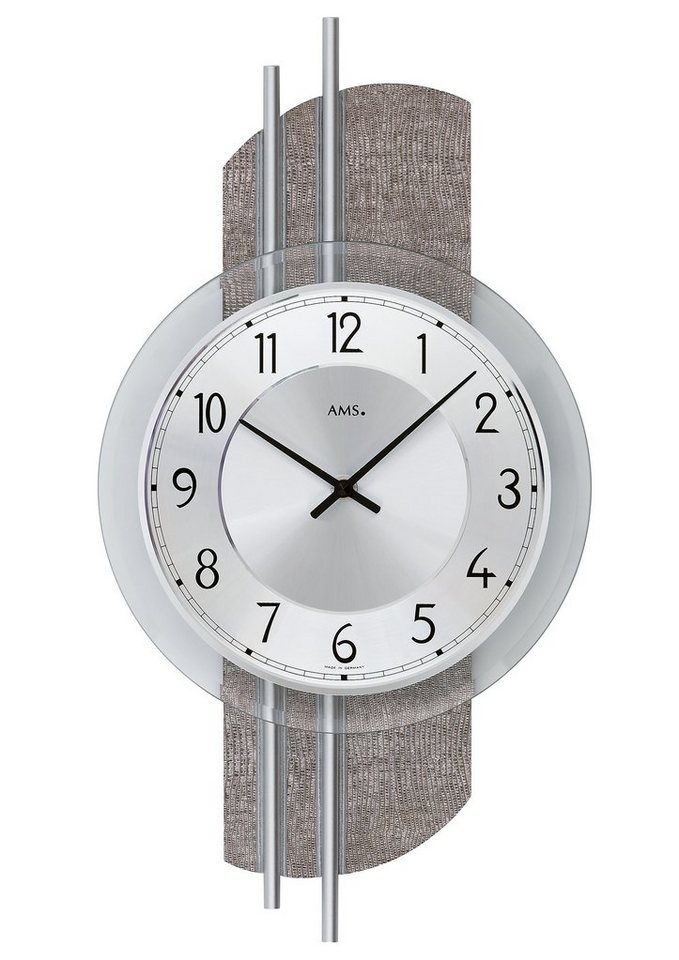 Quartz-Wanduhr, AMS in grau