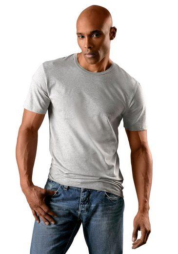 T-Shirts H.I.S (2 Stück) schlichter Basic in toller Passform aus weichem Baumwoll-Stretch