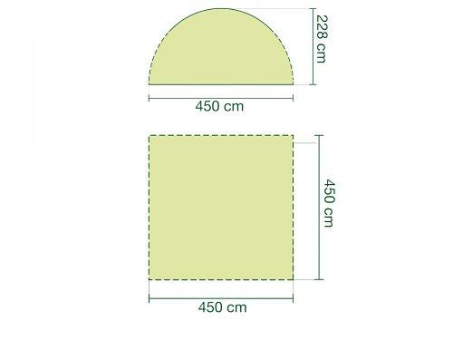 Coleman Zelte »Event Shelter 4,5 x 4,5« in grau/grün