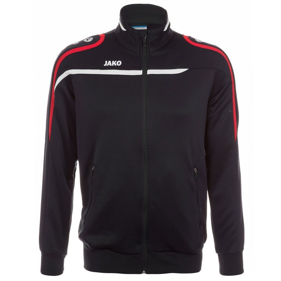 JAKO Trainingsjacke Performance Herren in schwarz/weiß/rot