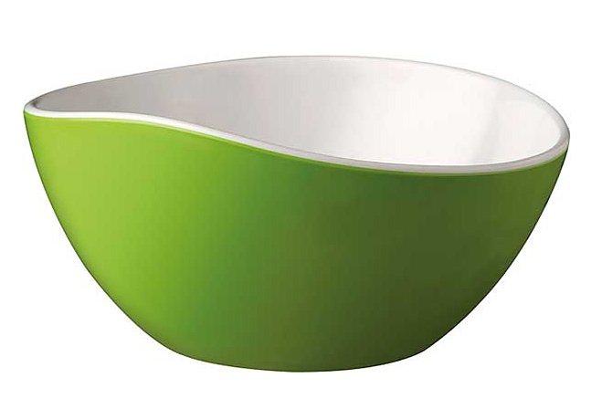 Melamin-Schale, APS in grün / weiß