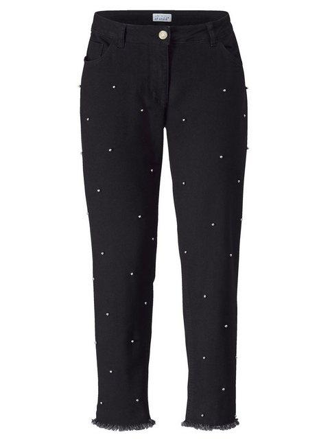 Hosen - Angel of Style by HAPPYsize Slim fit Jeans mit Dekoperlen ›  - Onlineshop OTTO
