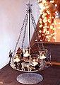 Home affaire Adventsleuchter, Metall, inkl. 4 Glaswindlichtern, Bild 1
