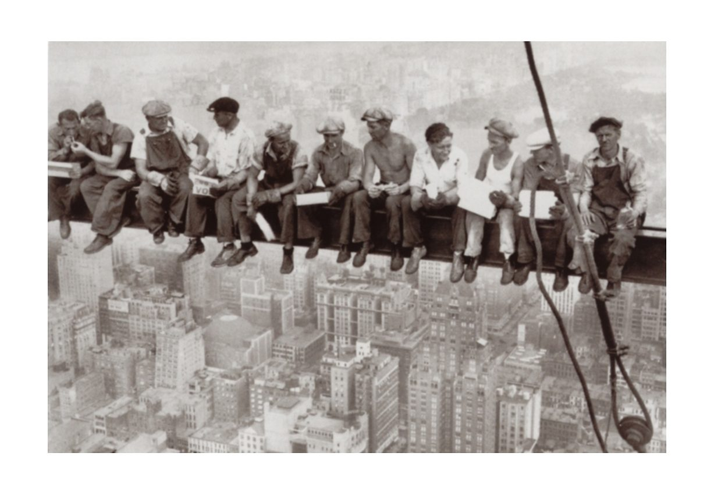 Home affaire Wandbild, Größe 90 x 60 cm, »Eating above Manhattan«