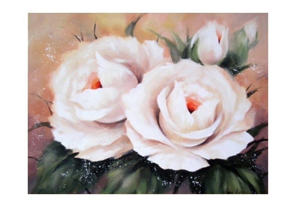 Home affaire Wandbild, Größe 80x60 cm, »Vier Rosen« in rosa