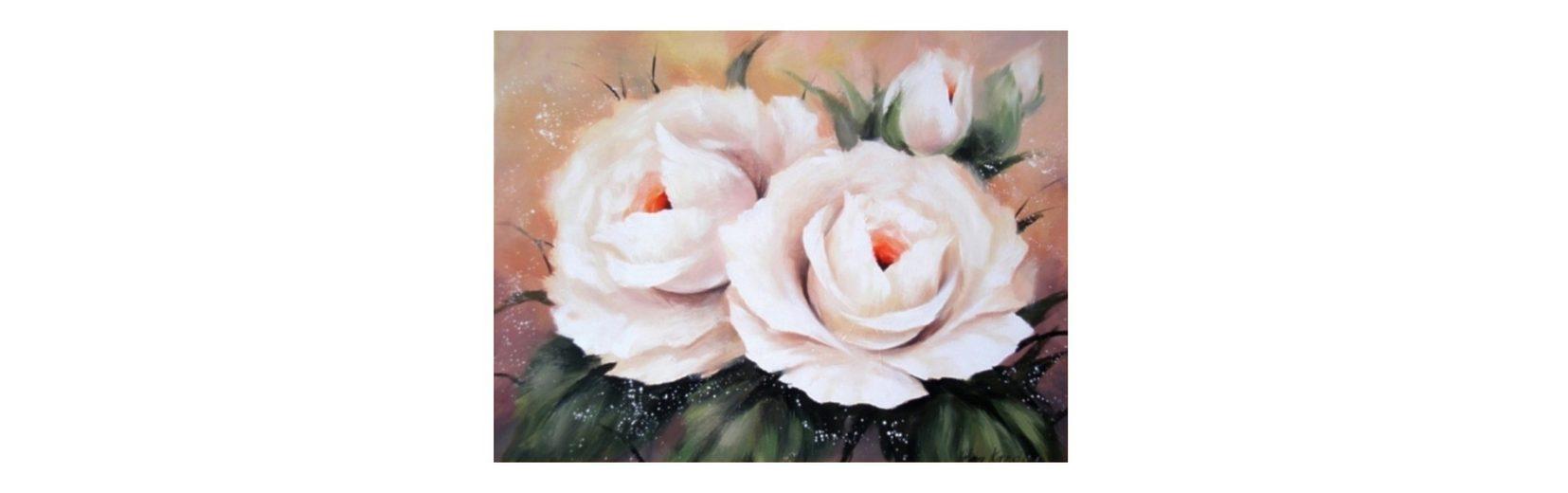 Home affaire Wandbild, Größe 80x60 cm, »Vier Rosen«