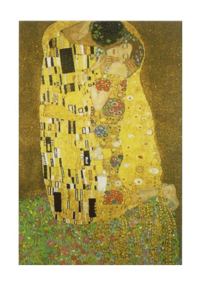 Home affaire Wandbild, Größe 60x90 cm, »KLIMT / Der Kuß« in goldfarben