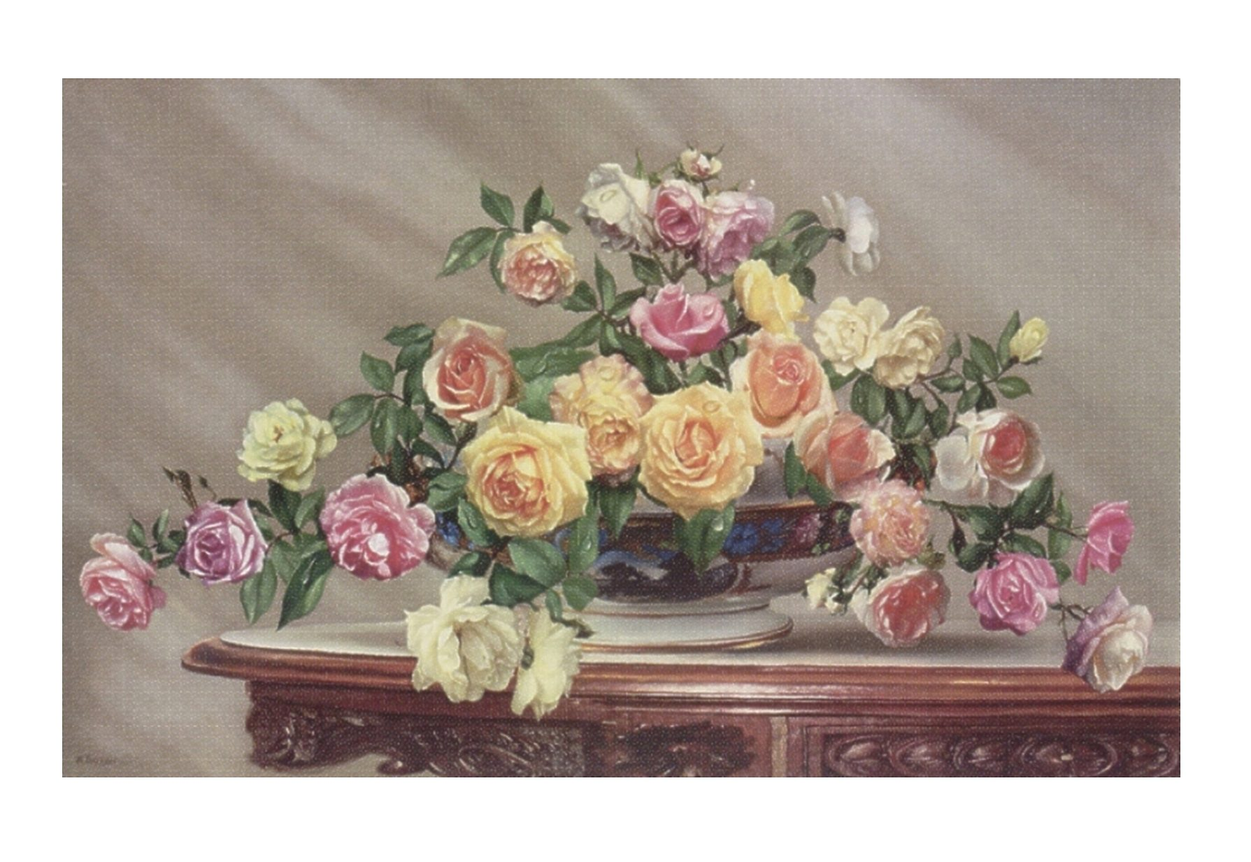 Home affaire, Wandbild, »Bouquet of roses«, 80/50 cm