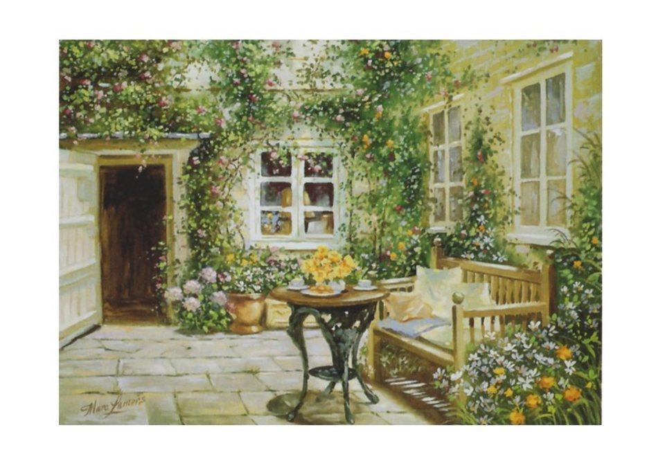Home affaire Wandbild, Größe 70/50 cm, »Coutyard tranquility« in grün
