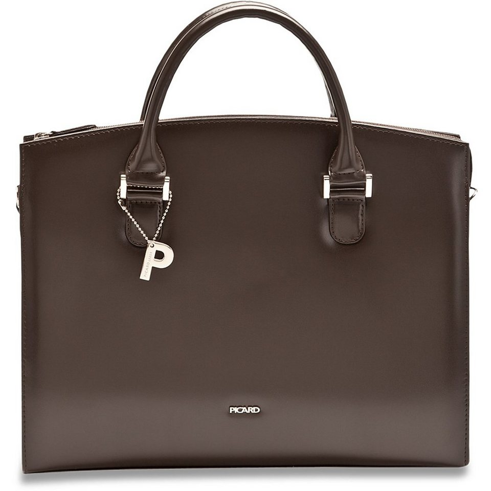 Picard Berlin Business-Handtasche Leder 36 cm in cafe