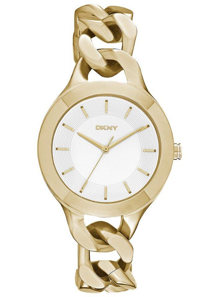 DKNY Quarzuhr »CHAMBERS, NY2217« in goldfarben