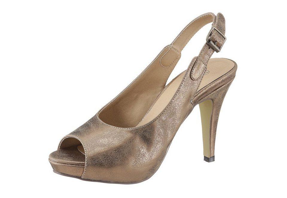 City Walk High Heel Sandalette in Metallicoptik in bronce metalic