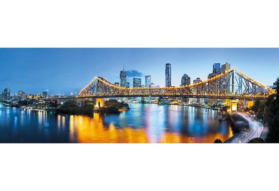 Vliestapete, Komar, »Brisbane«, 368/124 cm in blau/gelb