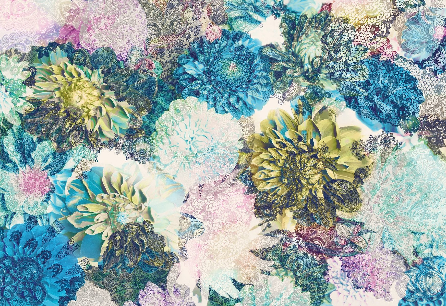 Fototapete, Komar, »Frisky Flowers«, 368/254 cm