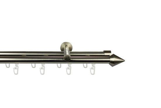 Gardinenstange »Grand«, GARESA, Ø 20 mm, 2-läufig, Wunschmaßlänge, edelstahlfarben