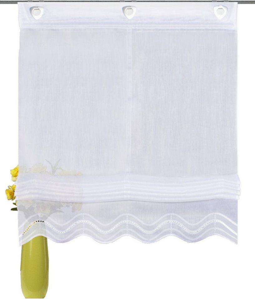 Raffrollo, Home Wohnideen, »Carmine«, mit Hakenaufhängung (1 Stück) in weiß