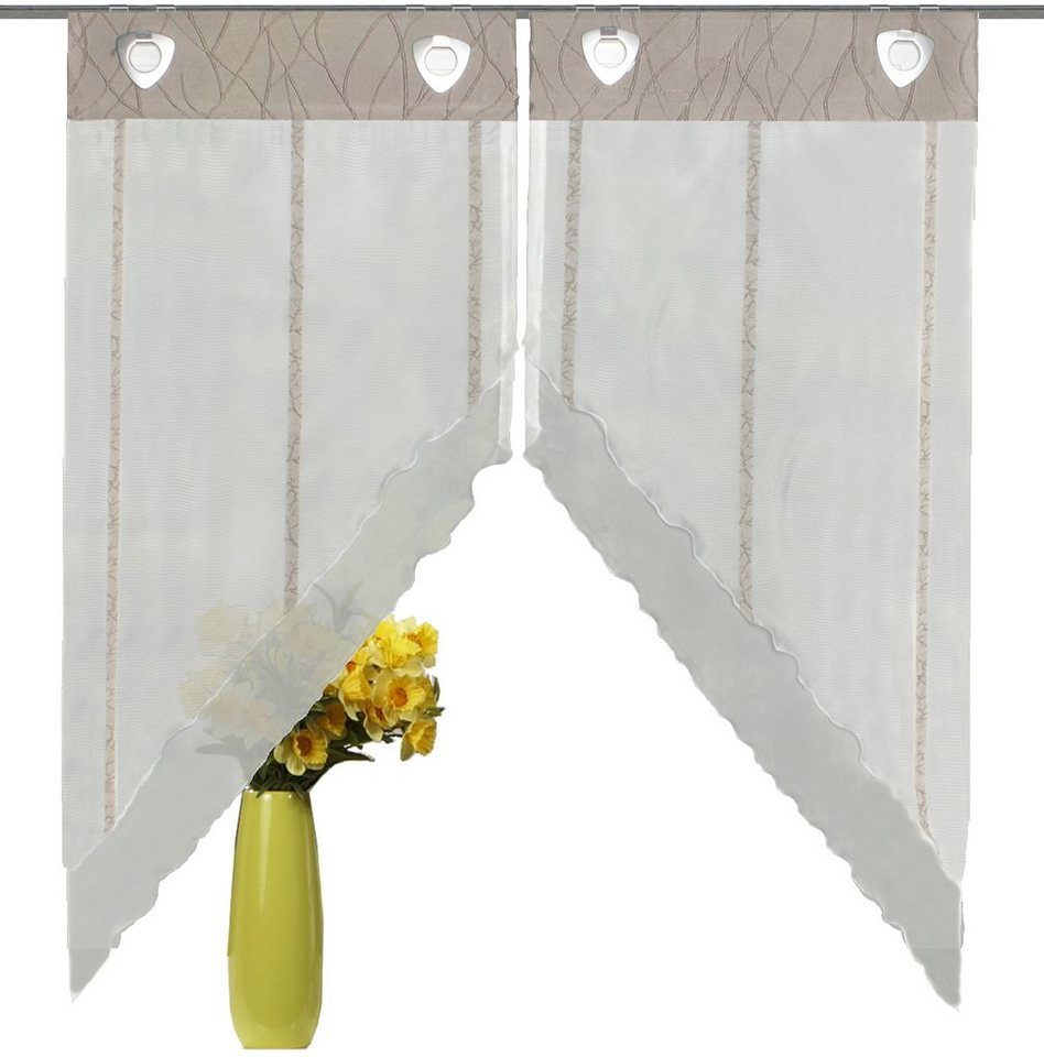 Fensterbehang, Home Wohnideen, »Henderson« (2 Stück) in stein