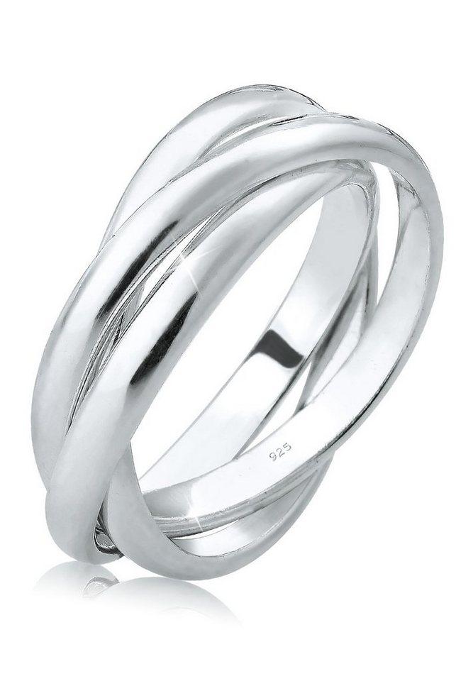Elli Ring »Wickelring Mehrreihig Basic 925 Silber« in Silber